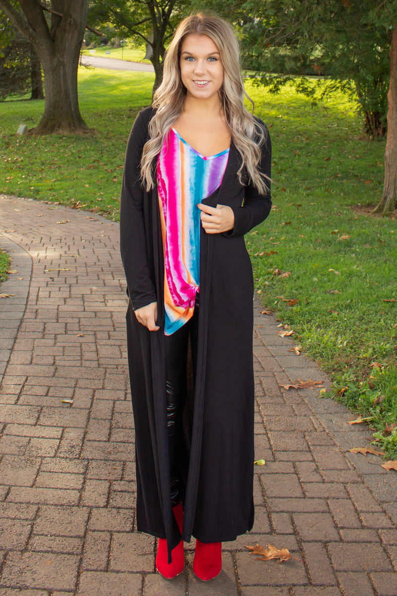 Trendy Long Cardigan, Womens Black Cardigan