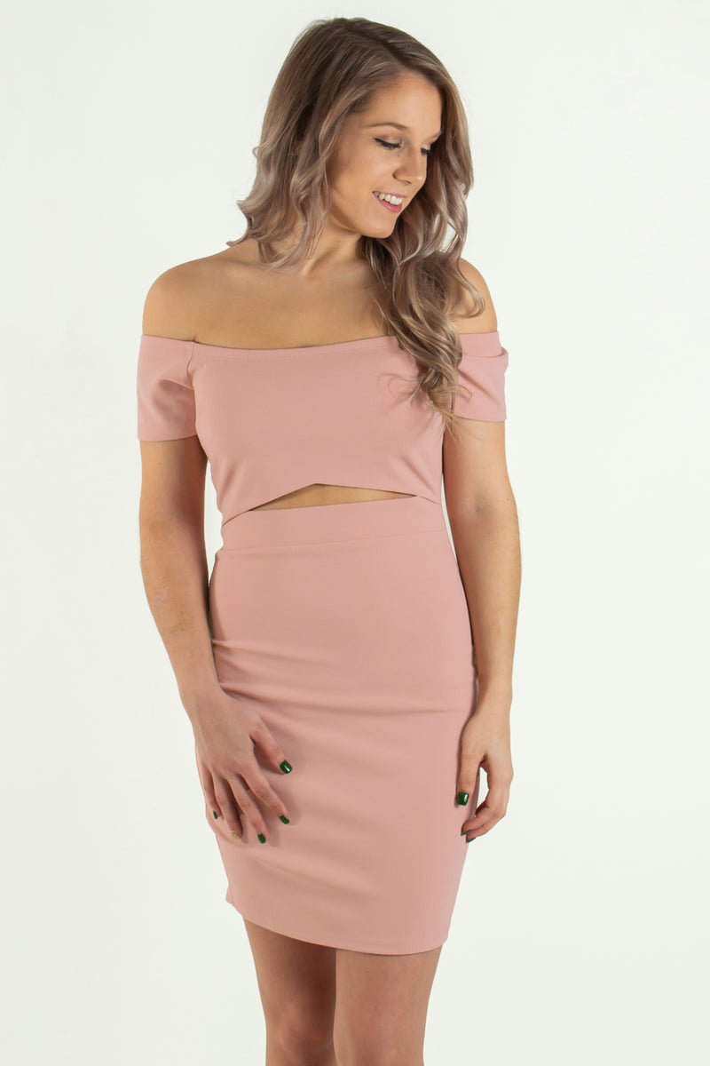 cute pink bodycon dress, cute cutout dress, cute pink cutout dress, cute off the shoulder dress, cute pink off the shoulder dress