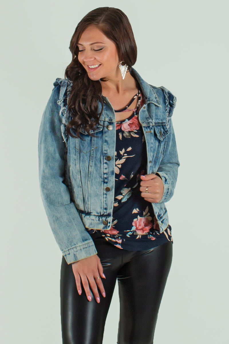 trendy jean jacket, cute jacket