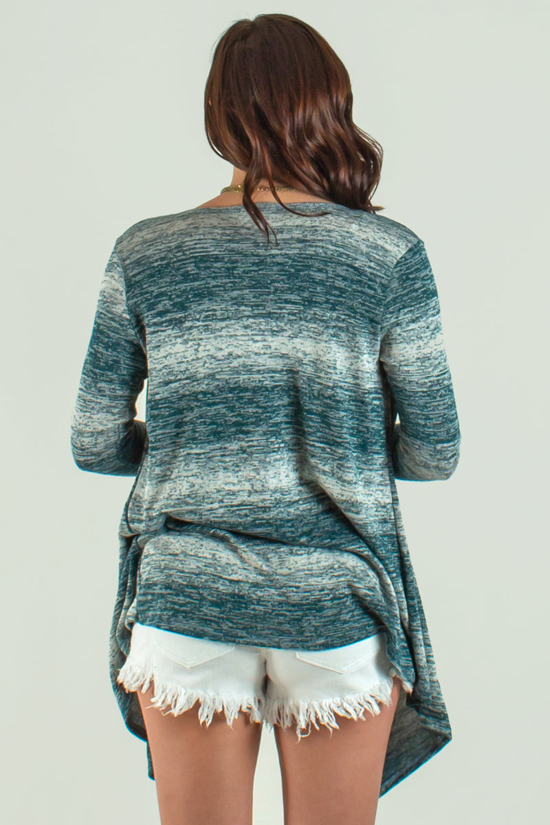 Womens tops, Womens Teal Cardigan