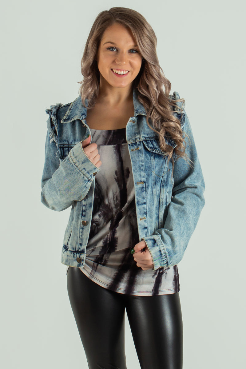 trendy jacket, trendy denim jacket