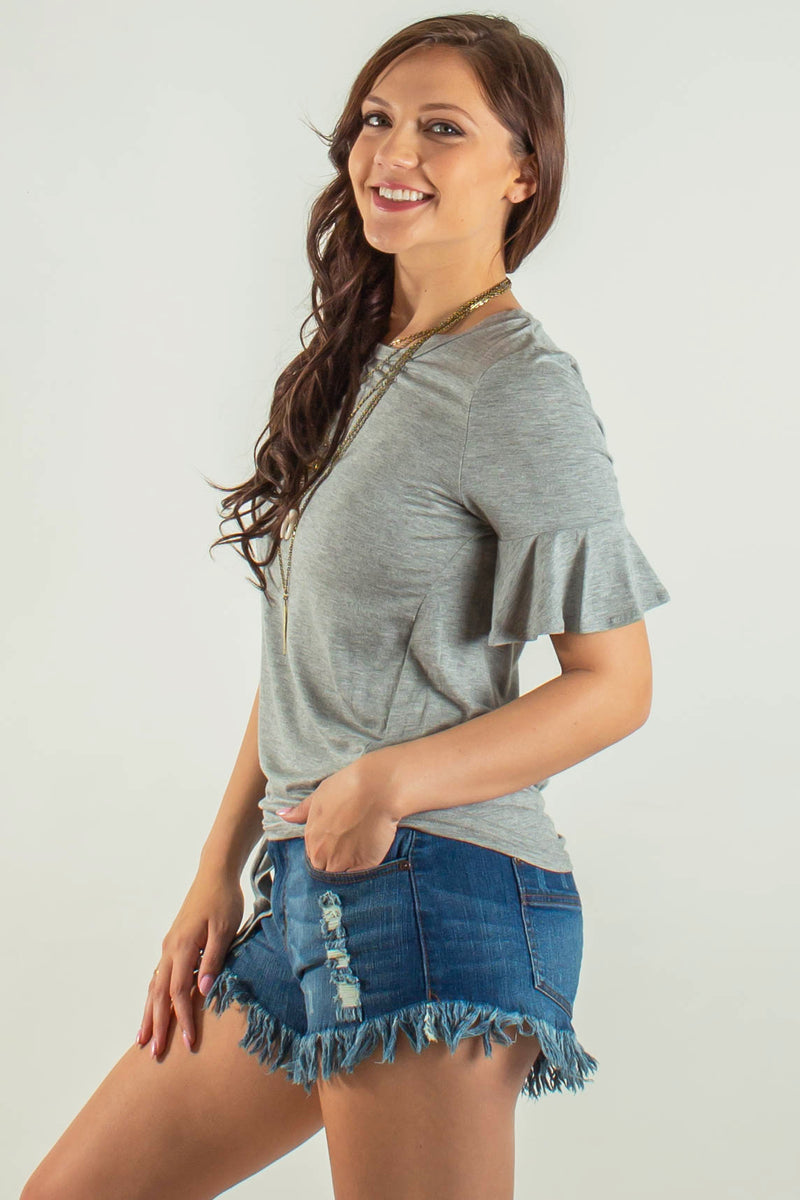 Business casual top, Cute grey top, Cute gray top, Cute grey blouse