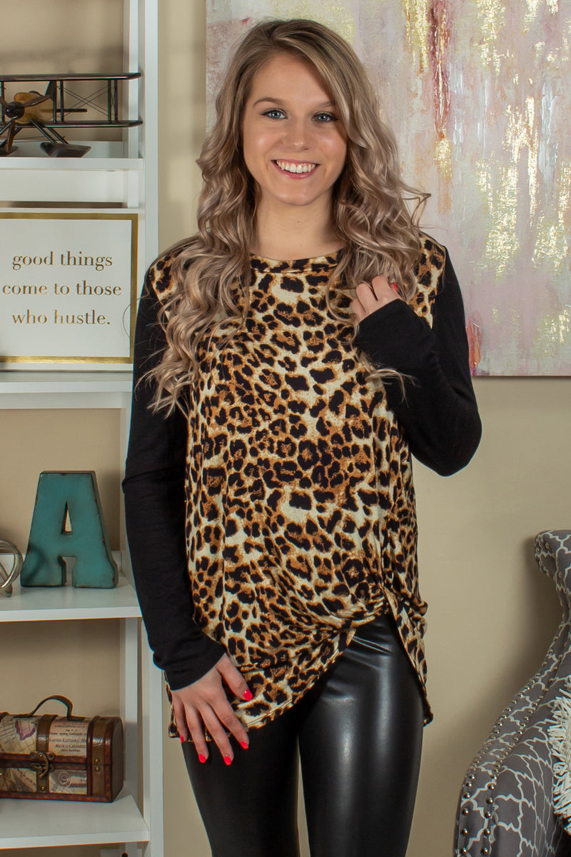 Animal print blouse, Womens Animal Print Top