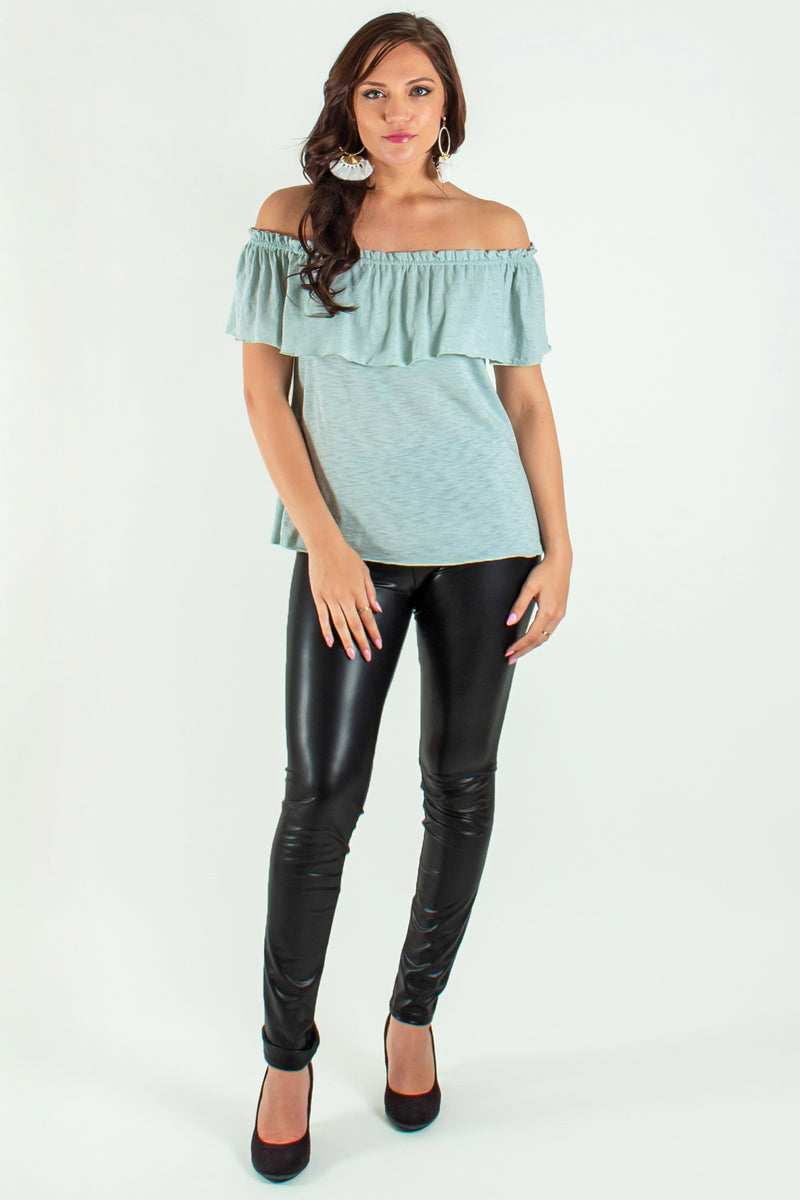 seafoam top, green blouse