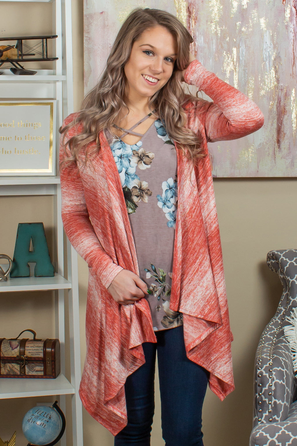 Boutique tops, Boutique cardigan, Cute heathered cardigan