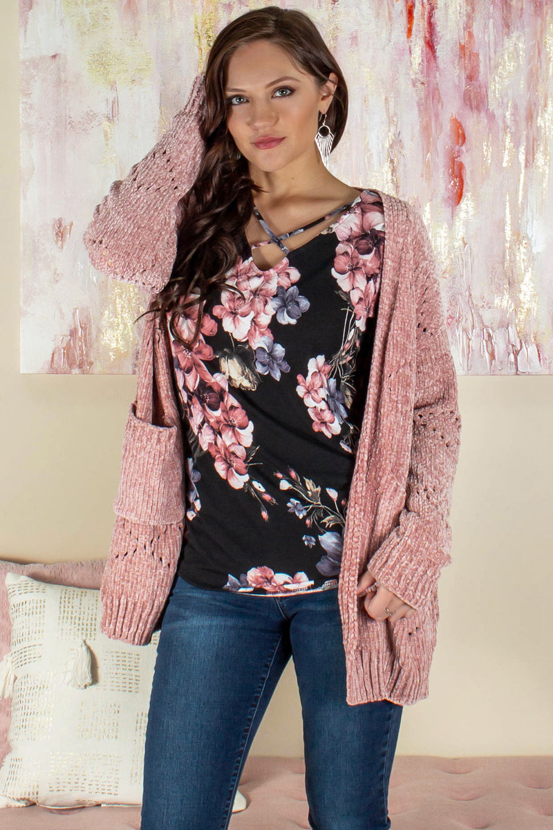 Boutique tops, Boutique chenille cardigan