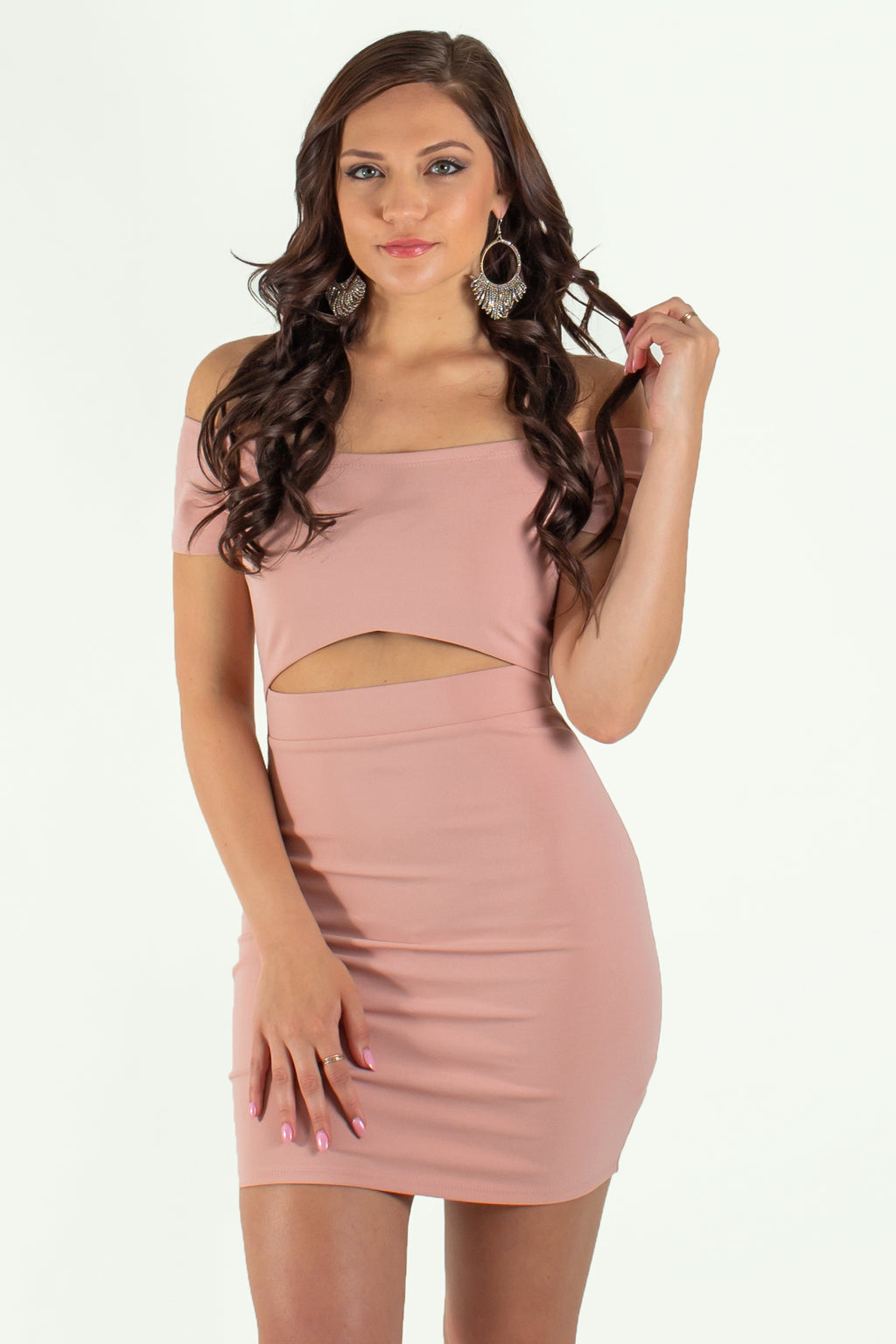 Bodycon, Pink bodycon, Short pink bodycon, Cutout bodycon, Pink Cutout Bodycon