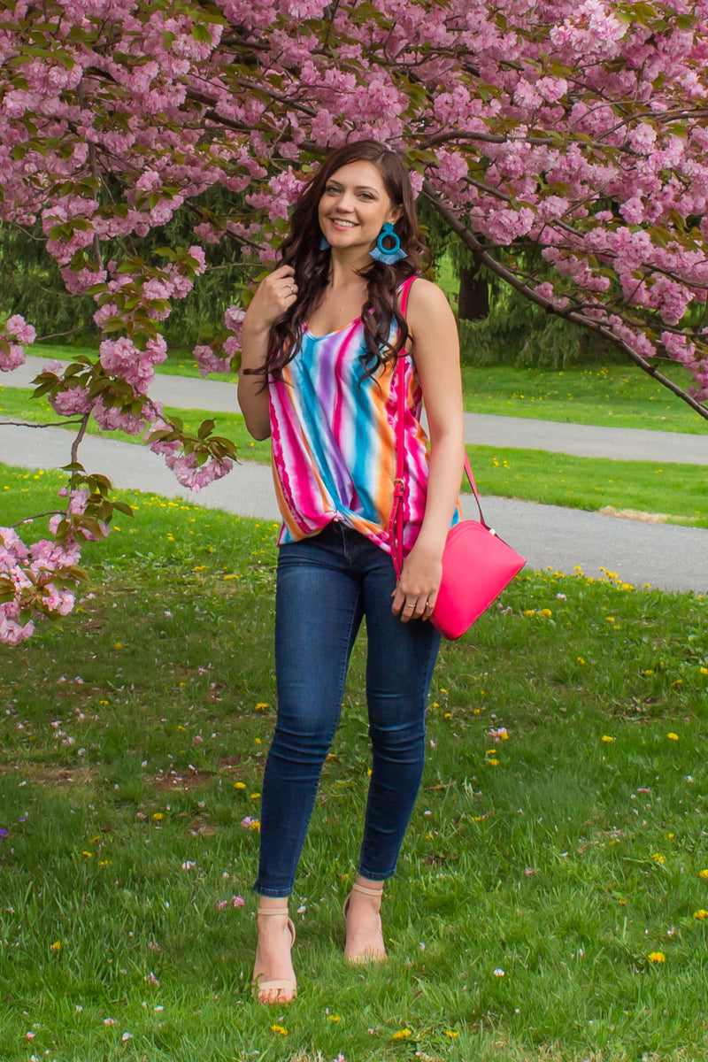 Cute multicolored top, Cute striped top, Cute rainbow striped top