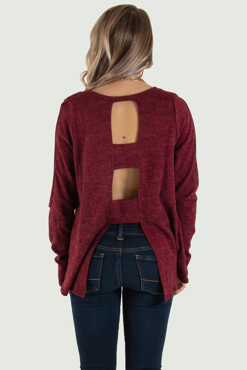 womens burgundy sweater, womens burgundy top