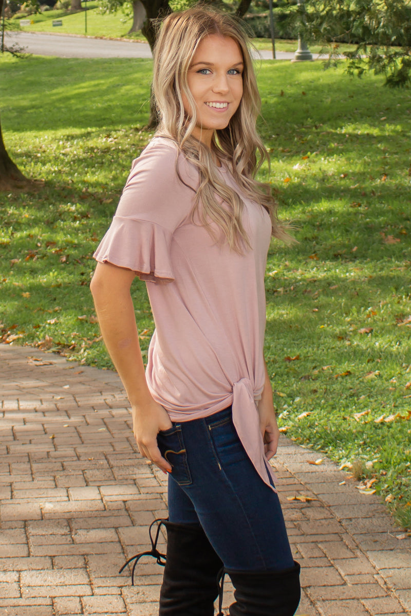 Trendy light pink top, Trendy pink blouse, Trendy light pink blouse