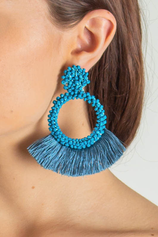 Here With Me Earrings (Teal)