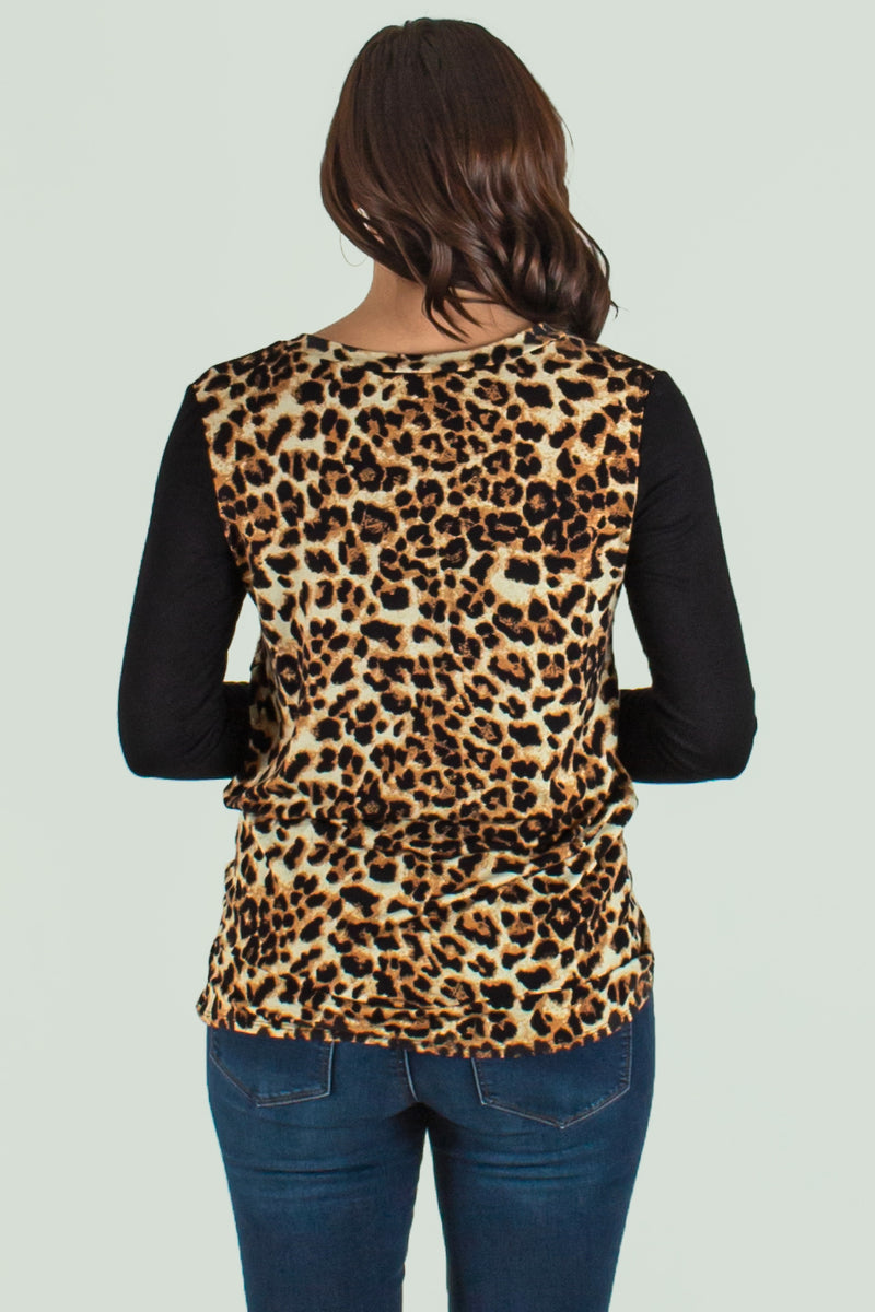 Trendy leopard print blouse, Trendy leopard print shirt, Womens tops
