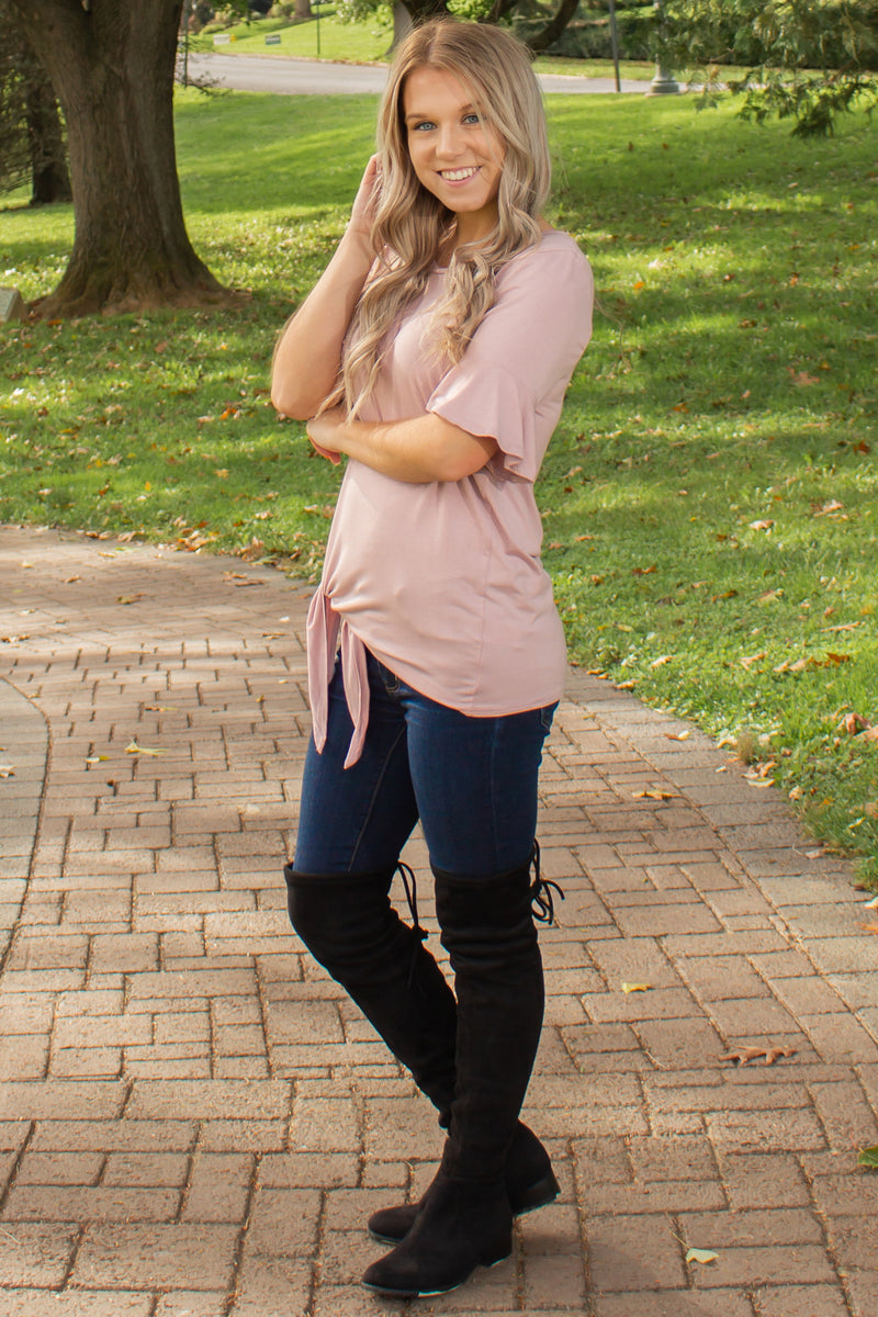 Trendy pink tee, Trendy light pink tee, Womens tops