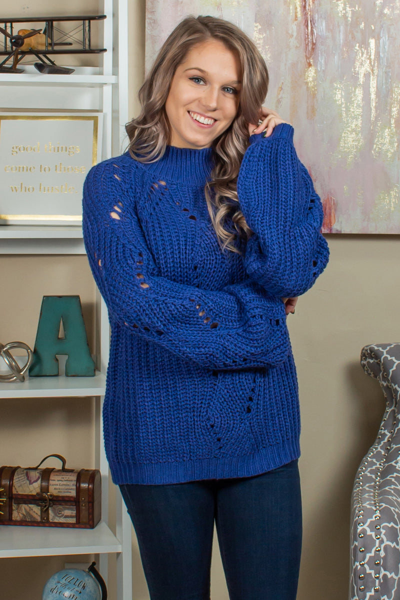 trendy blue sweater, trendy navy sweater, trendy cutout sweater
