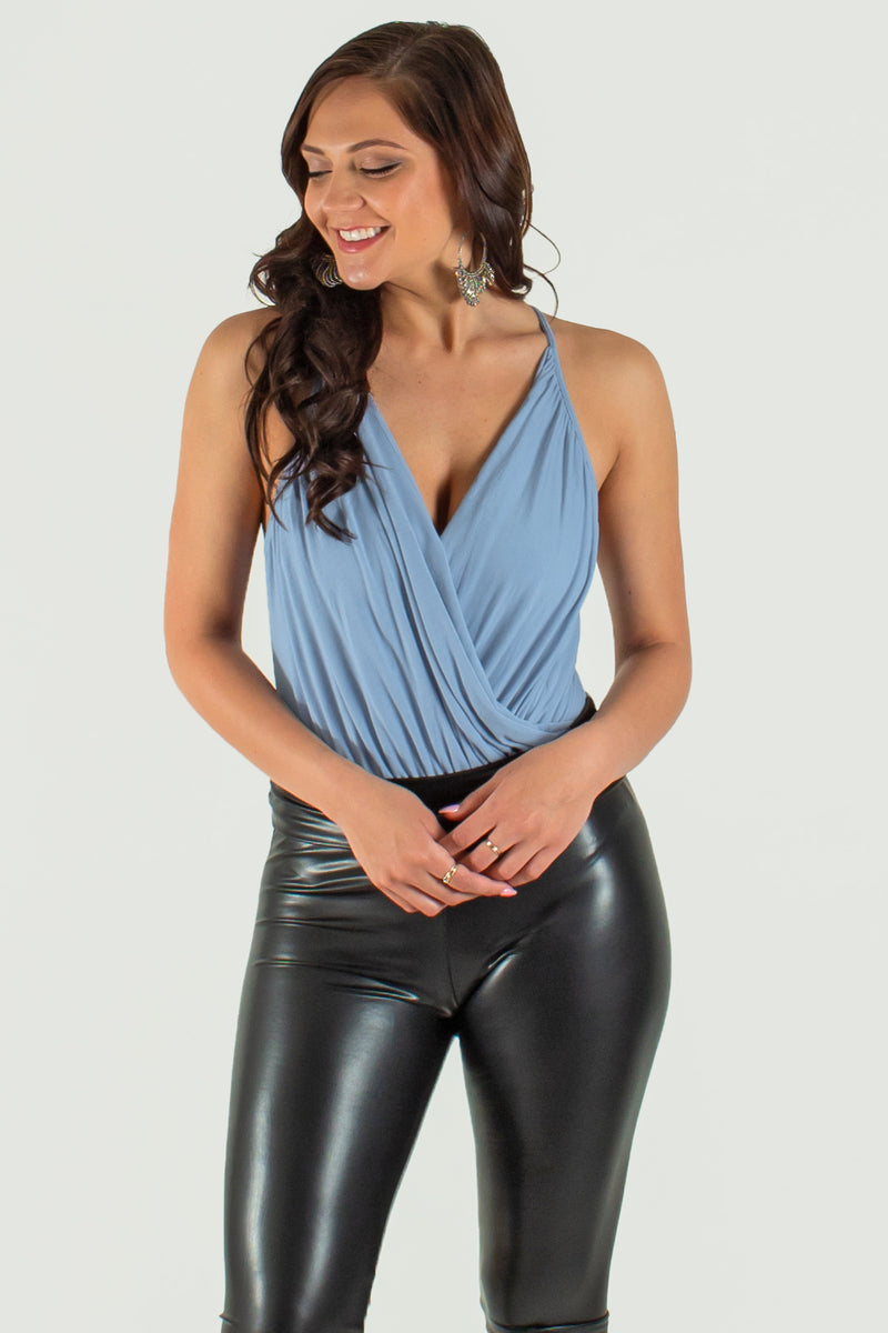 Trendy bodysuit, Trendy surplice bodysuit