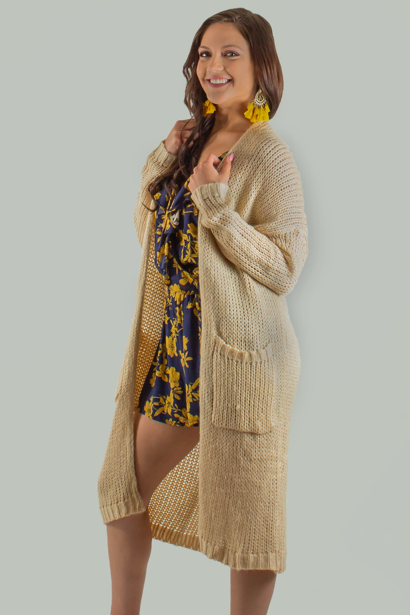cute tan cardigan, cute beige cardigan