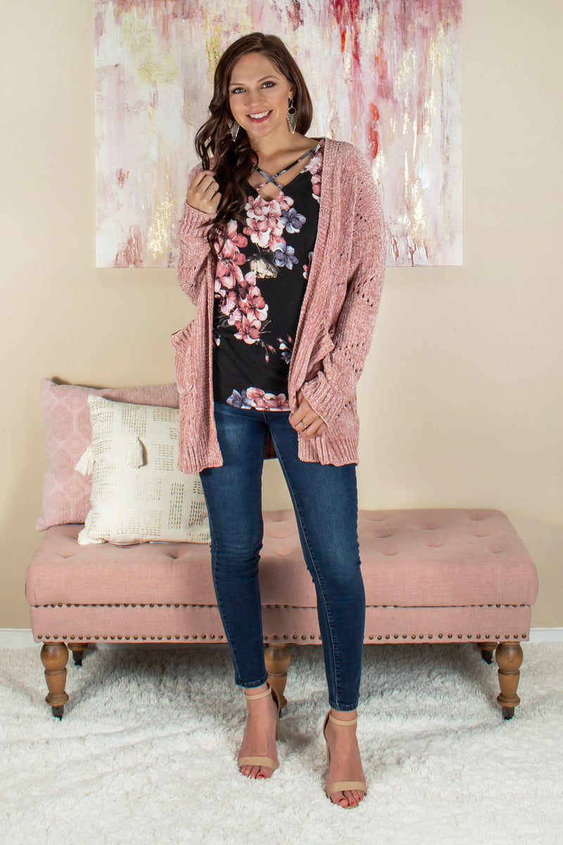Womens cardigan, Womens tops, Womens pink cardigan