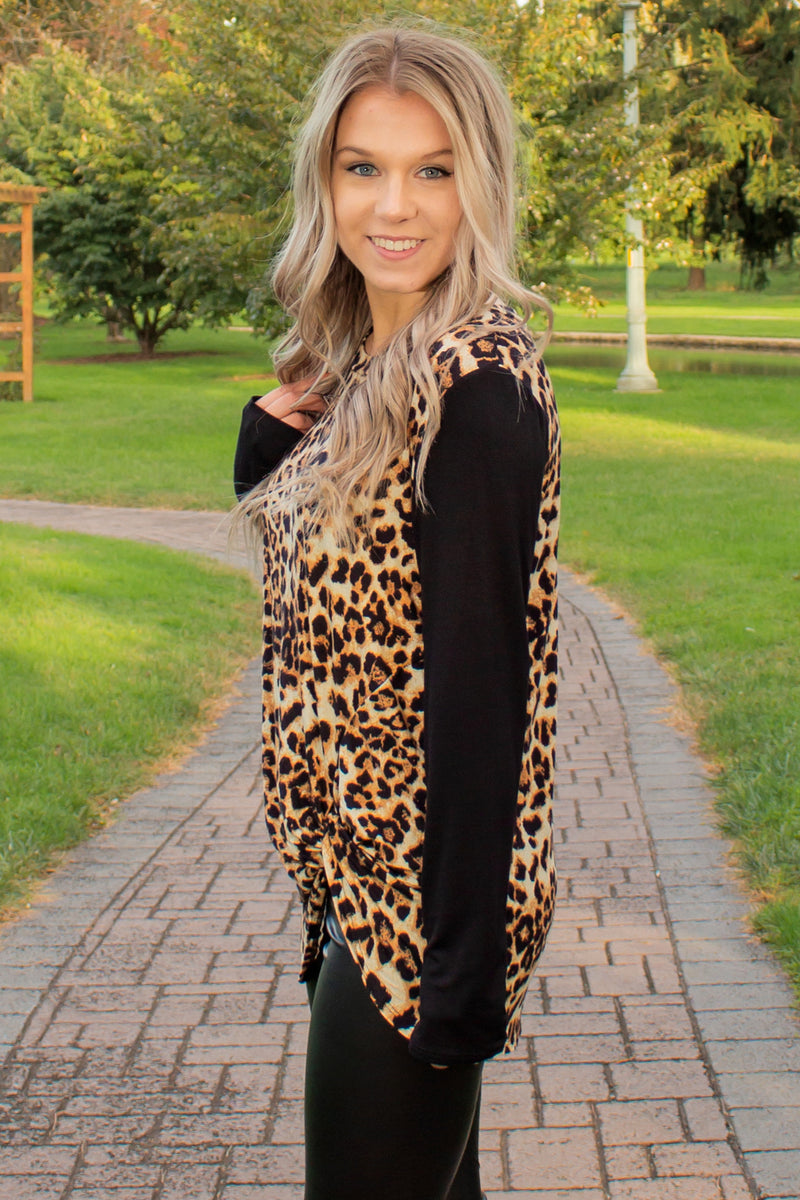 Trendy animal print top, Trendy Animal Print Shirt