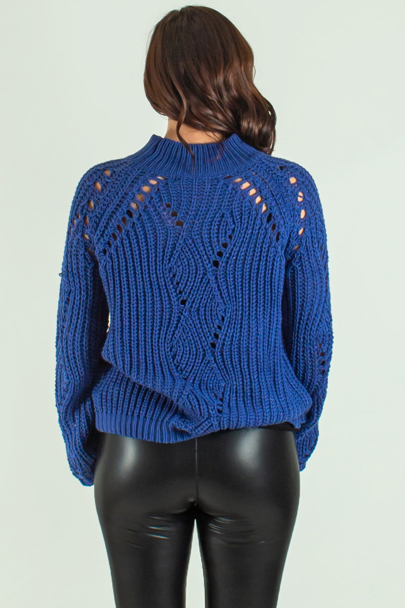 boutique sweaters, blue boutique sweater, navy boutique sweater
