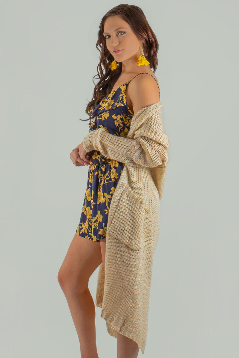 womens tan cardigan, womens crochet cardigan