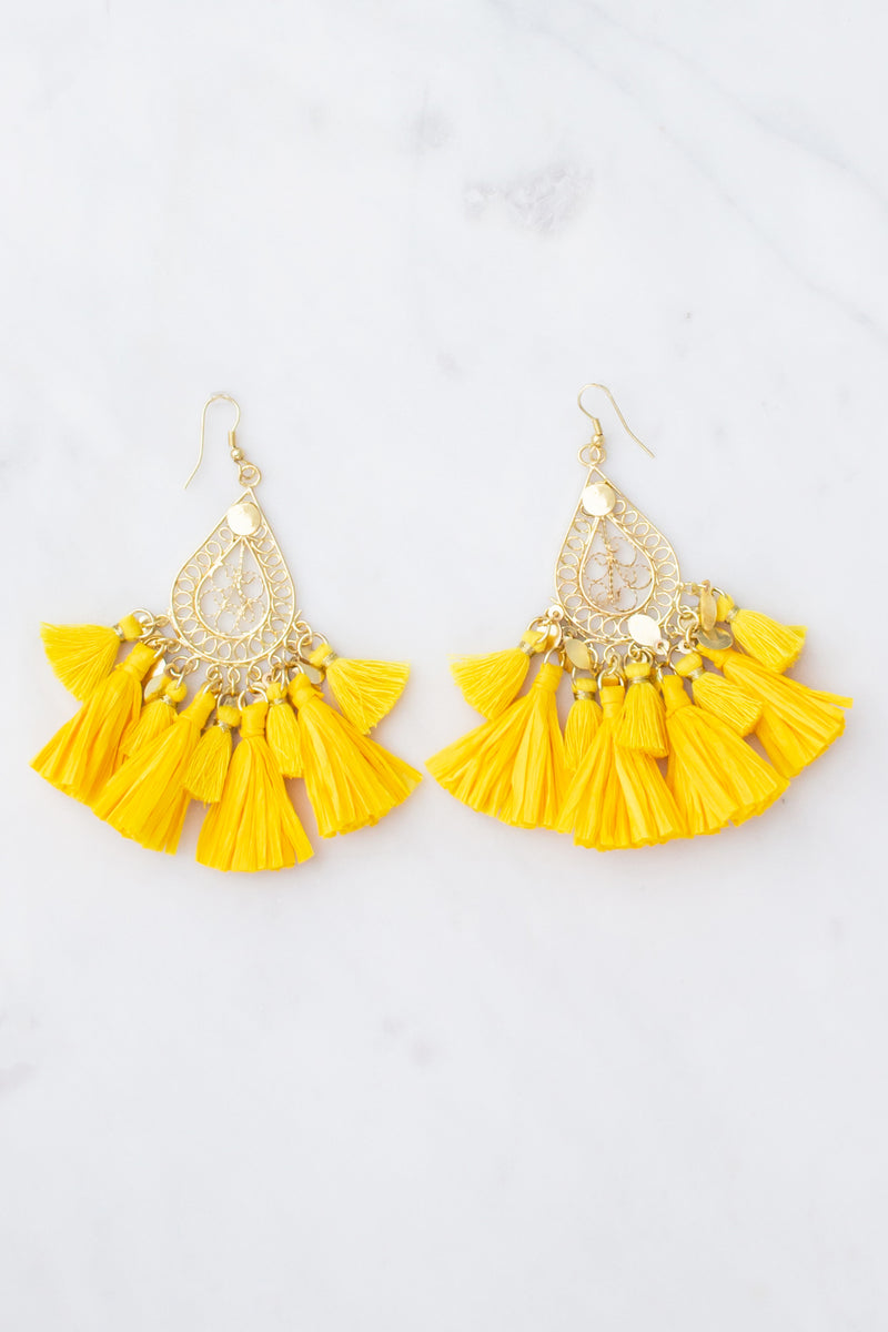 Cute yellow boutique earrings, trendy yellow boutique earrings, yellow fashion earrings, yellow boutique earrings