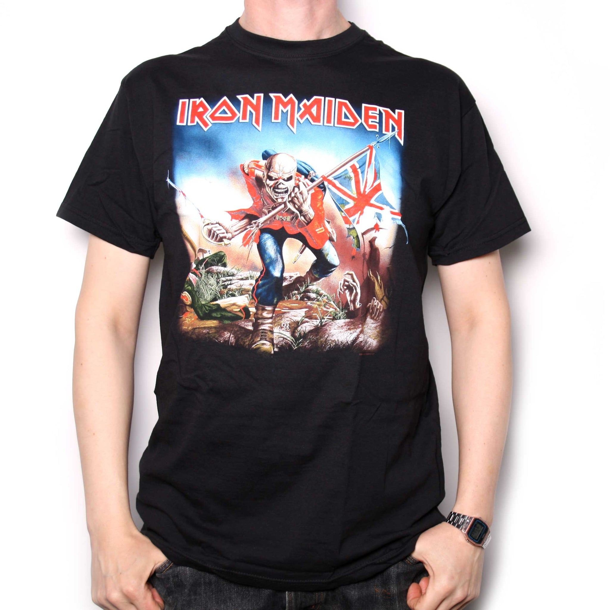 96882bac2 Iron Maiden T Shirt The Trooper 100% Official | Heavy Metal T shirts ...