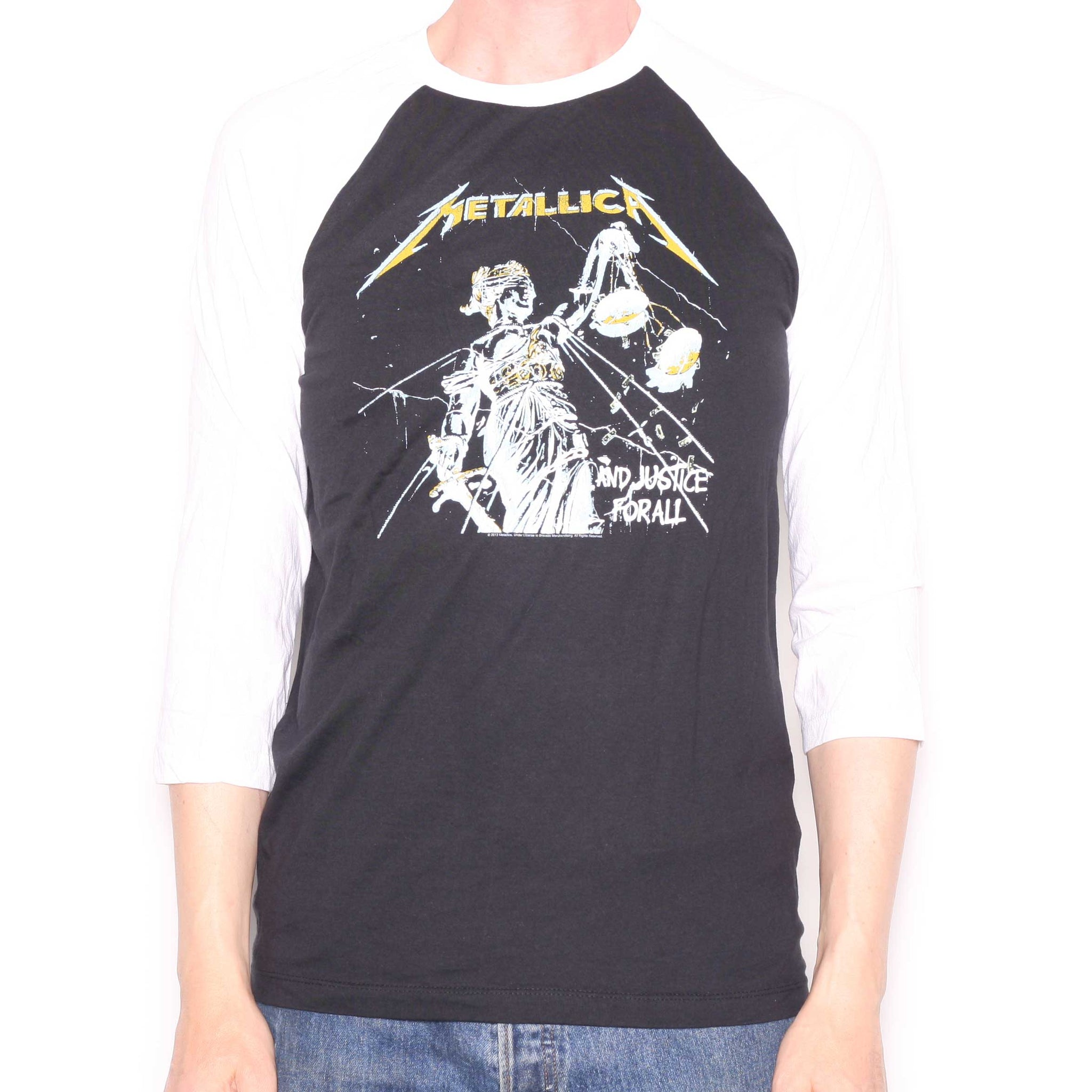 775dc58fc47 Metallica T Shirt - And Justice For All Long Sleeve Official - Metal ...