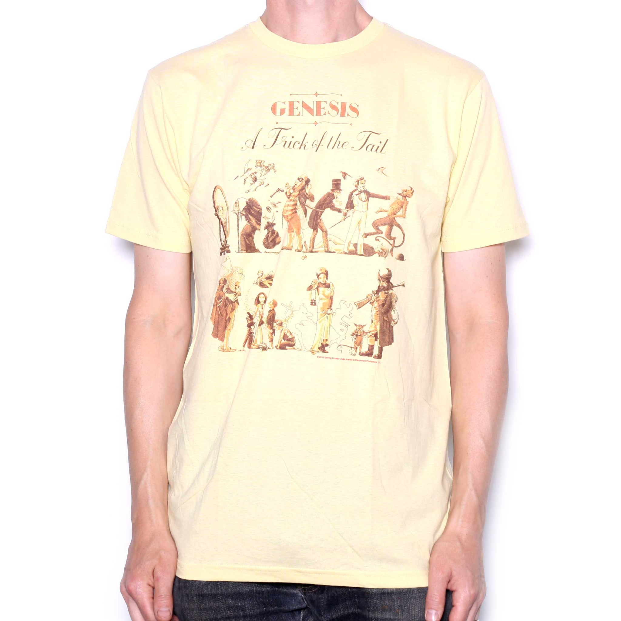 Genesis T Shirt - Trick Of The Tail Yellow With Backprint Official ... ea3150f2e