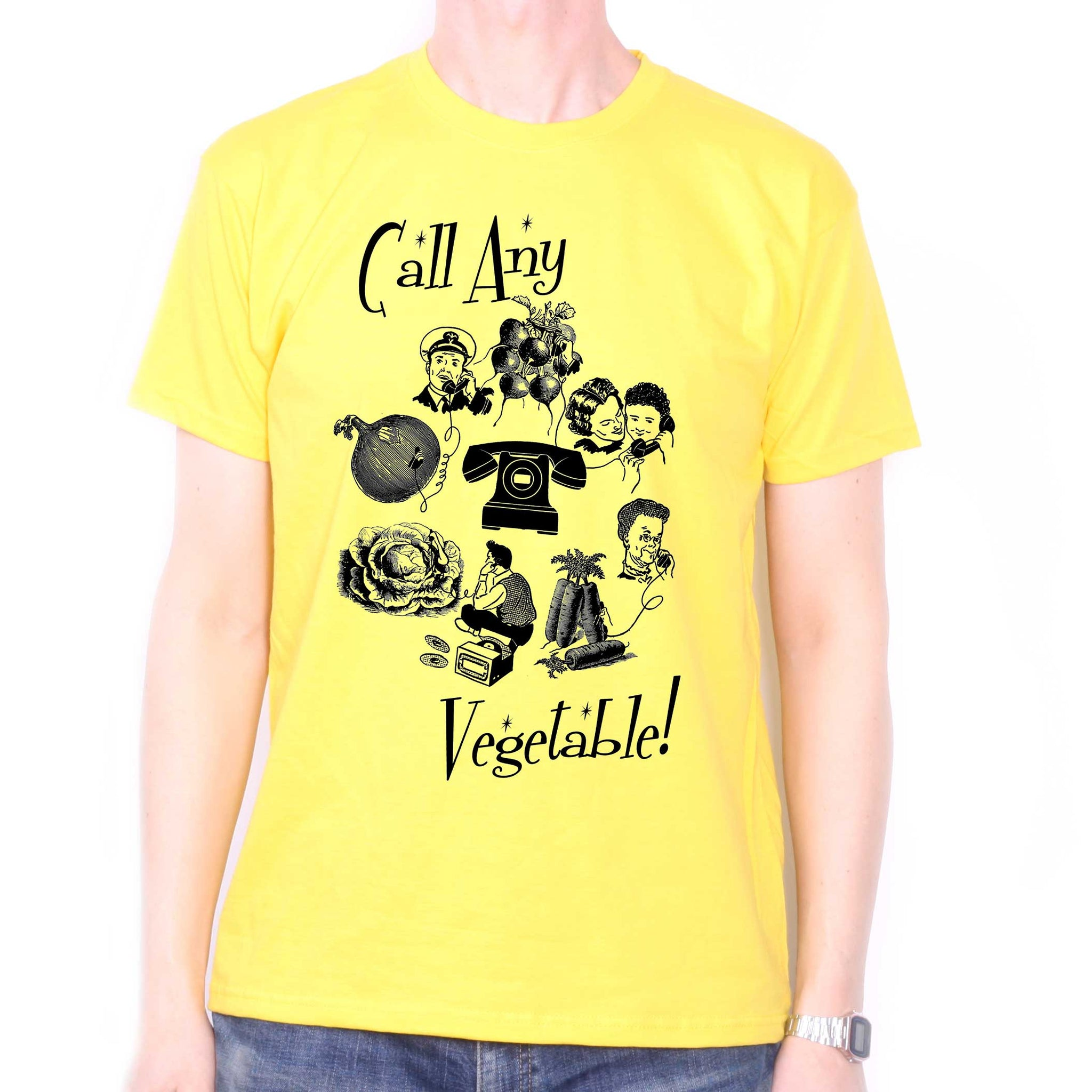 2e00f7eef12dc Call Any Vegetable T Shirt - A Zappa Inspired Telecoms Poster!