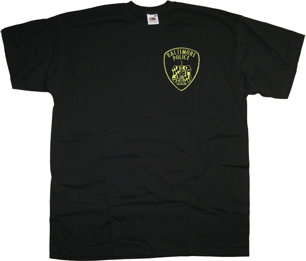 Baltimore Police Patch T shirt inspired by The Wire | Classic TV T ...