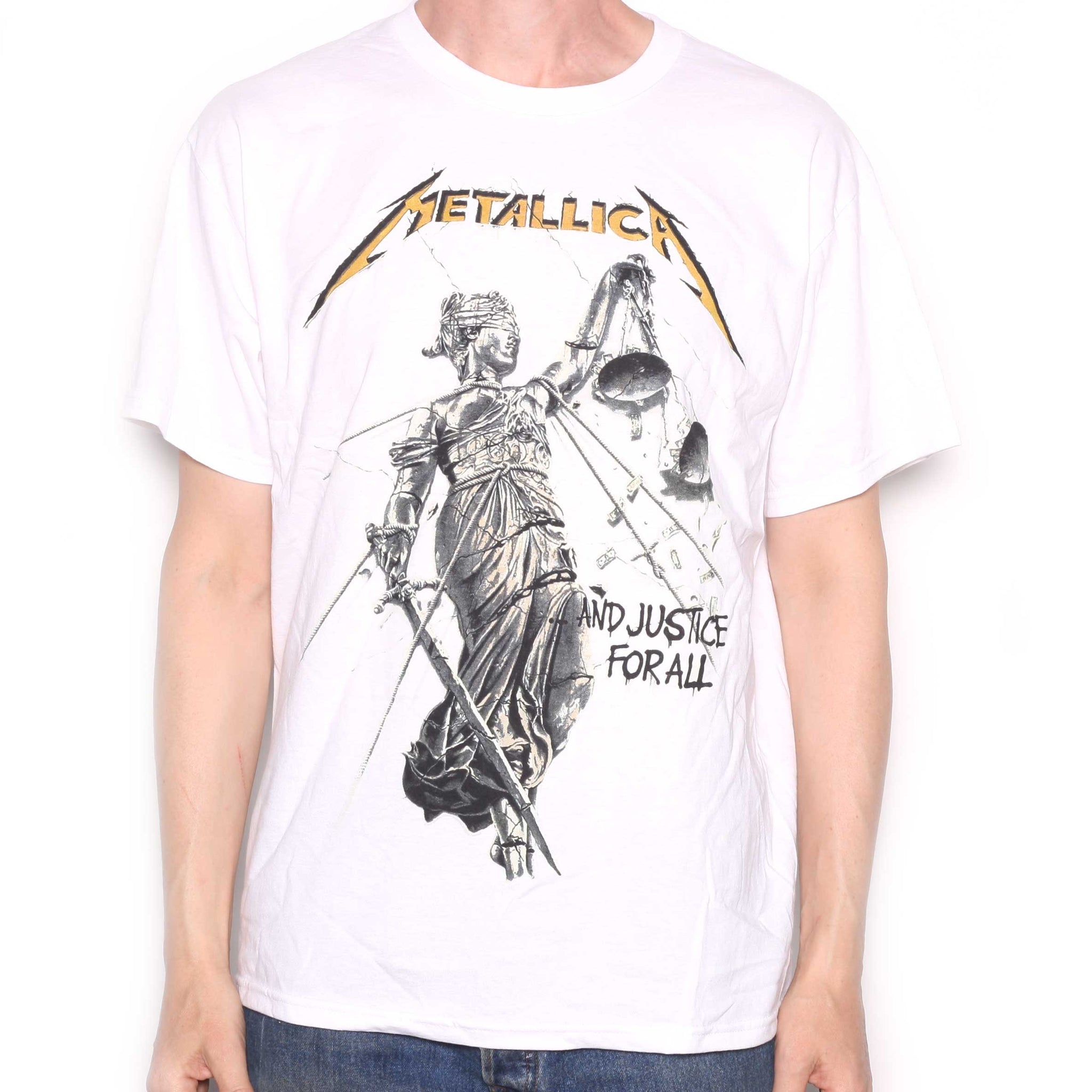 Metallica T Shirt And Justice For All 100 Official
