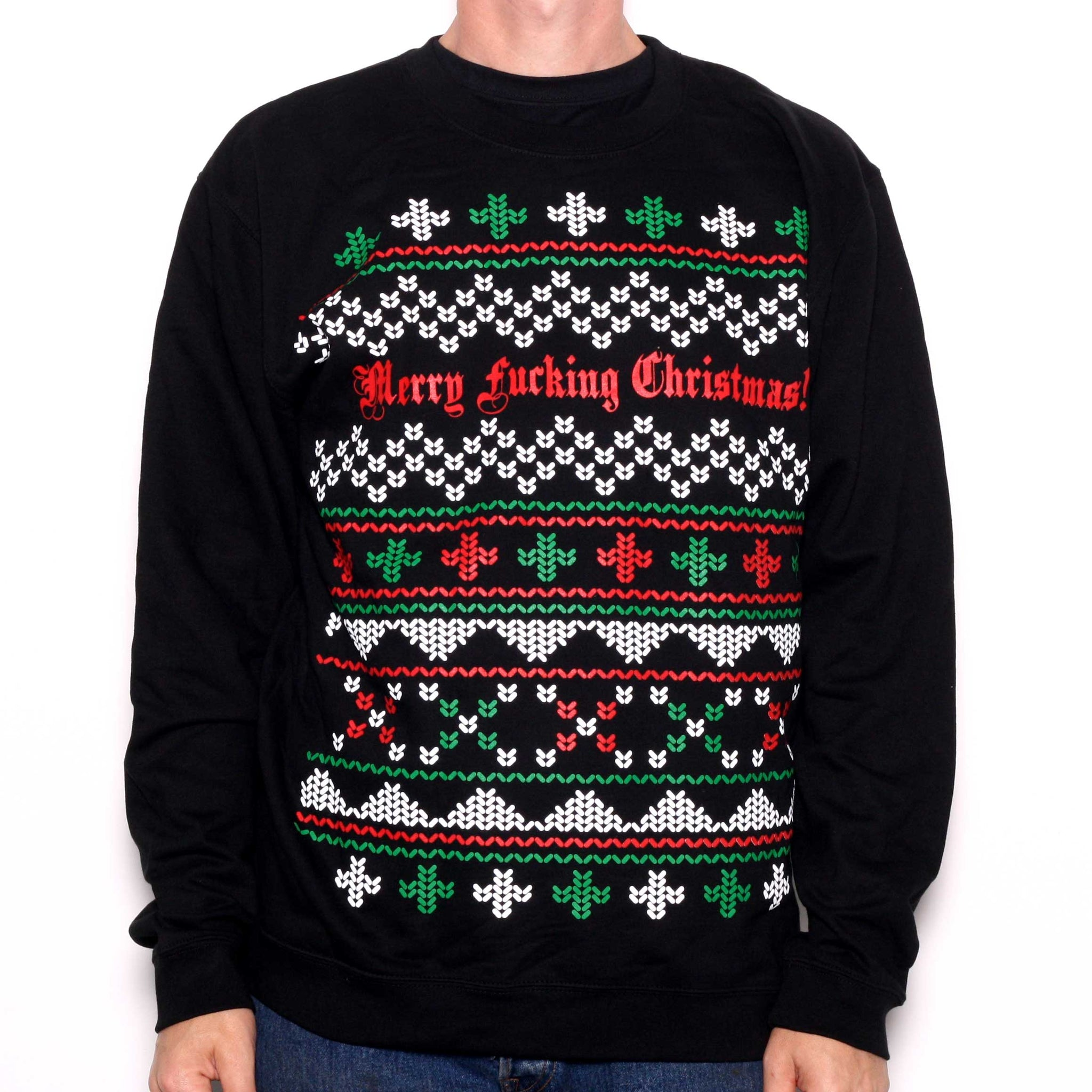 Merry Fking Christmas Sweater Alternative Christmas Jumper Old