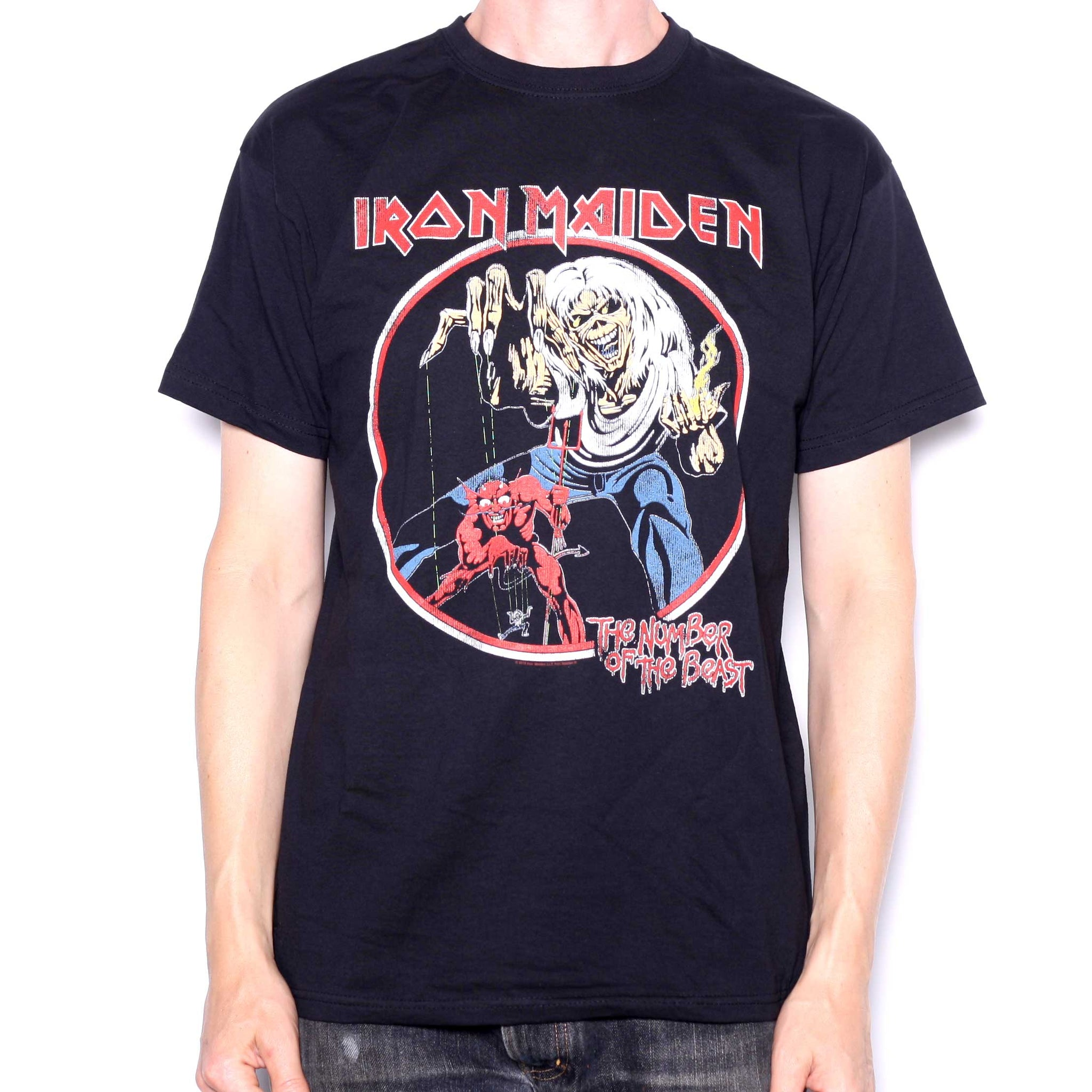 1c3e4227daf Iron Maiden T Shirt - Number Of The Beast Retro Official
