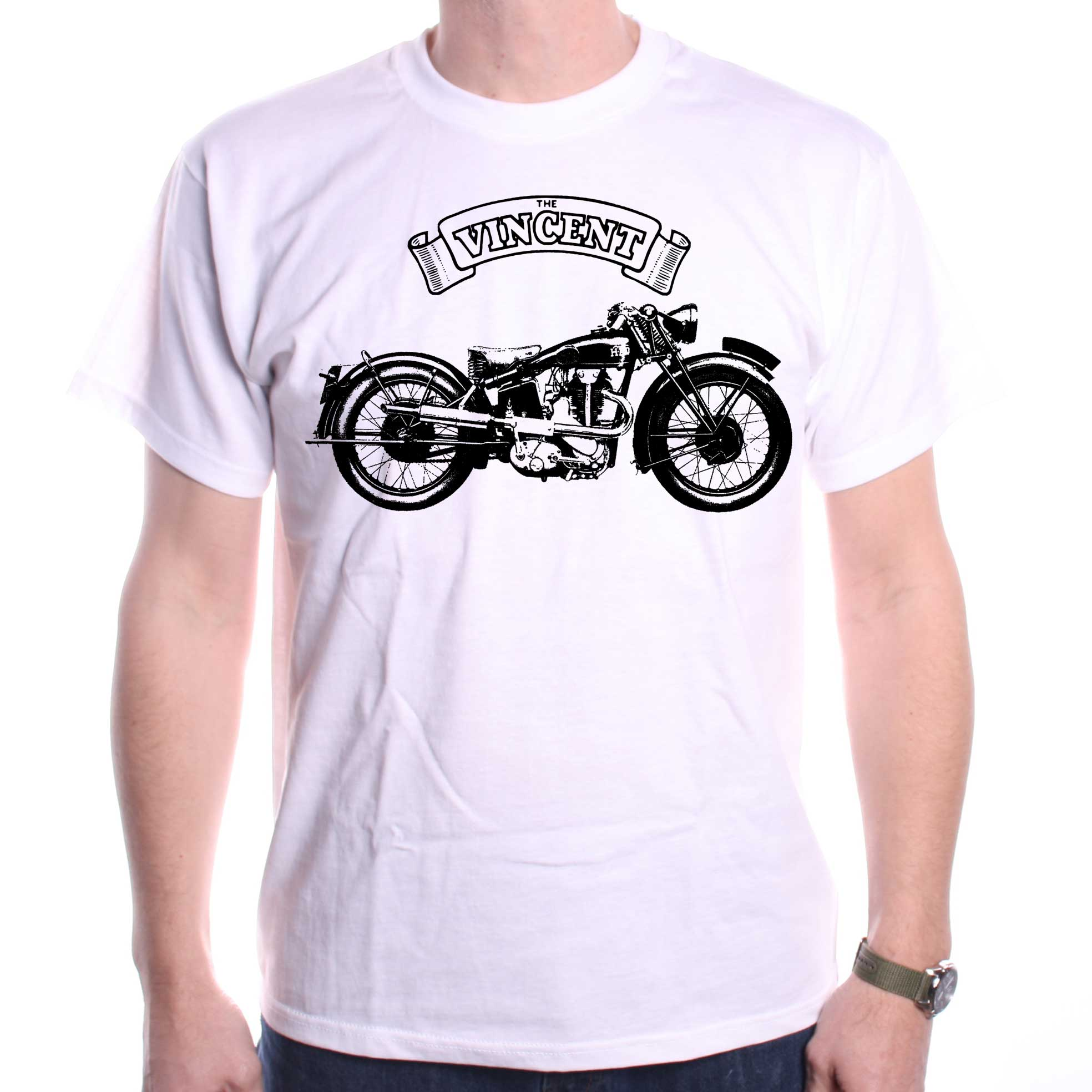 e5d14fe8 Vincent Motorcycle T Shirt / Motorcycle T shirts at Old Skool Hooligans