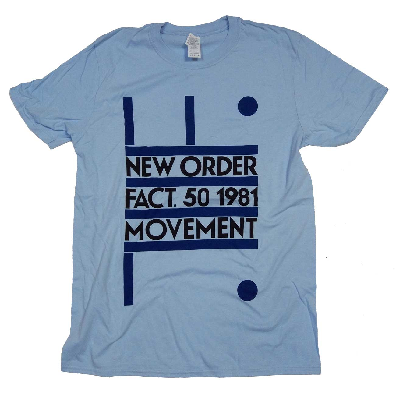 037b2176a50 New Order T Shirt - Movement 100% Official Factory Records