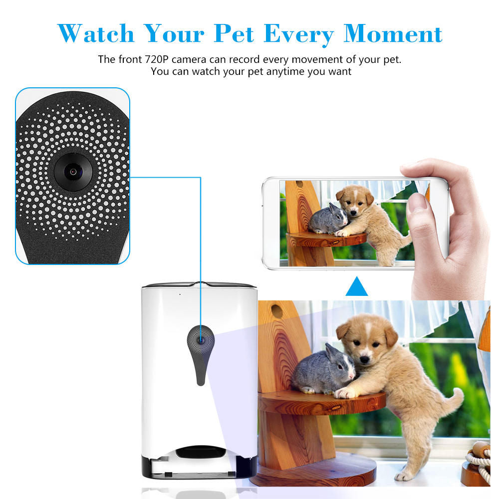 product pet dog or smart remote feeder for food new automideo controlled control audio dispenser
