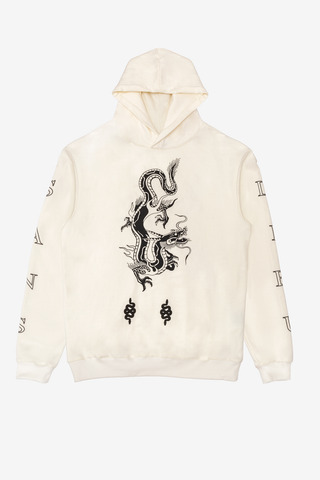 DRAGONFLY WHITE HOODIE