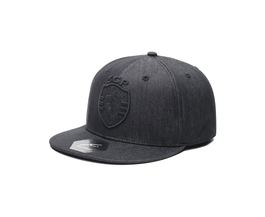 Sporting Clube de Portugal Black Denim Snapback Hat