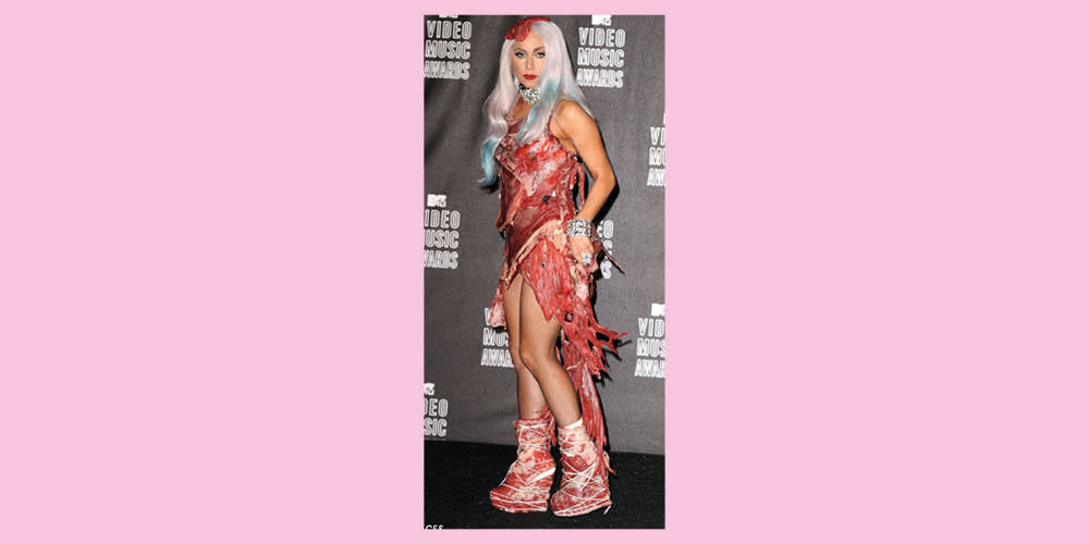 West Carolina Mtv Vma Meat Dress Lady Gaga