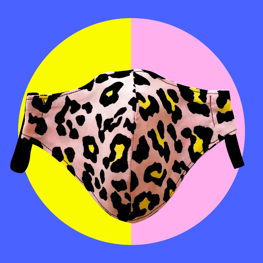 Pink Leopard Print - LIMITED EDITION Face Mask