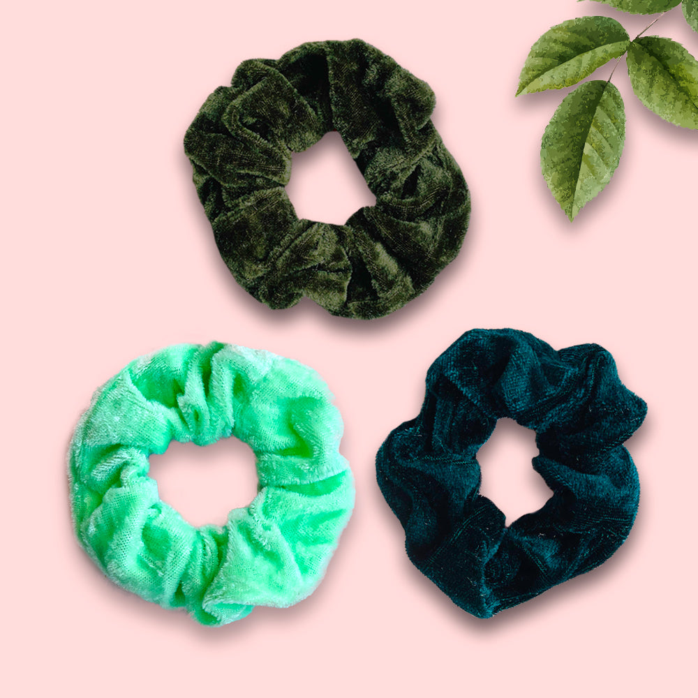 Velvet Mint Green Scrunchie