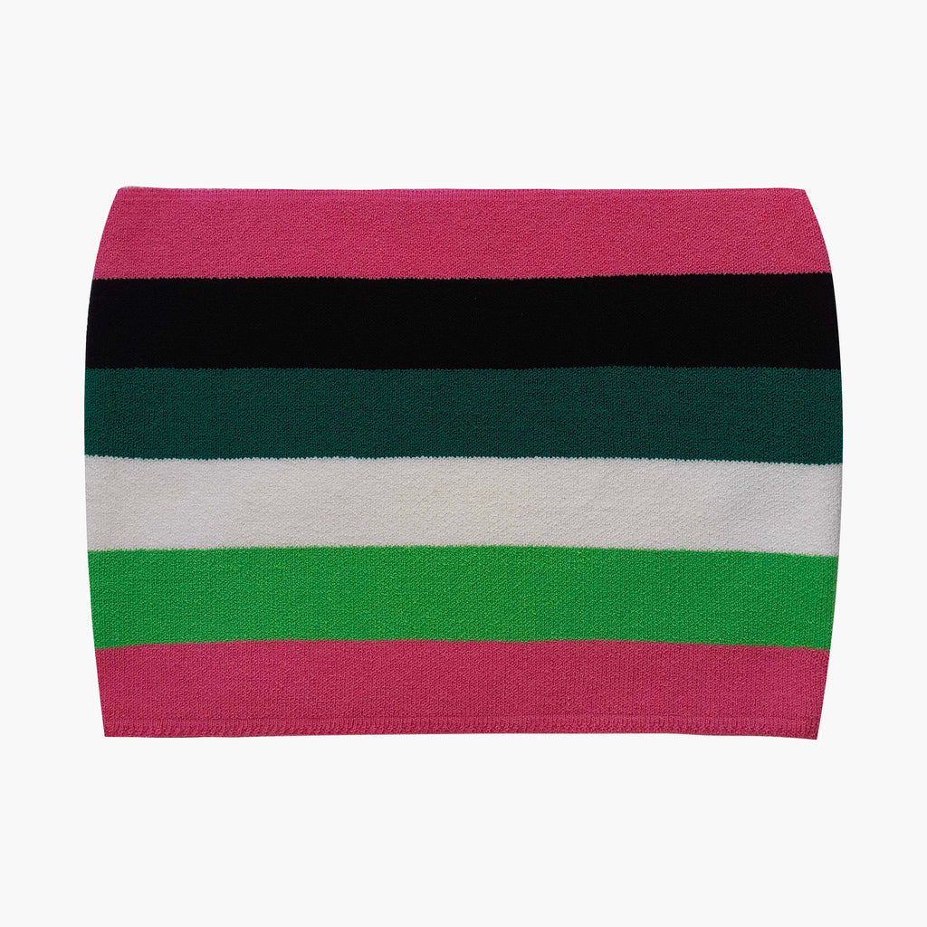 West Carolina good quality stretch Pink and Green Striped Tube Top. Perfect for Spring and Summer or layering in Winter over a button up shirt. Stylish basics. Dress up and dress down.
