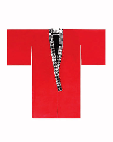 Unisex reversible red and black kimono