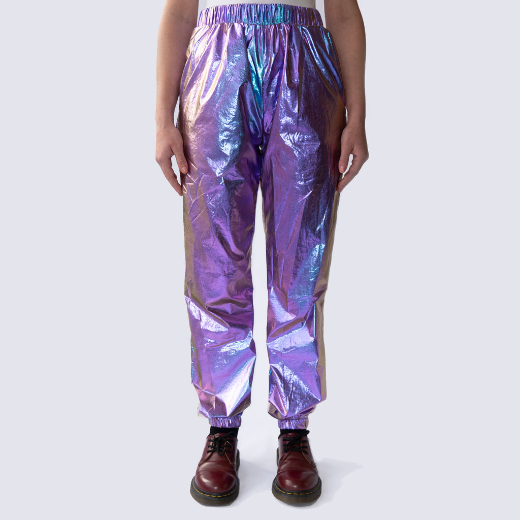 Holographic Metallic Manhattan Trousers joggers