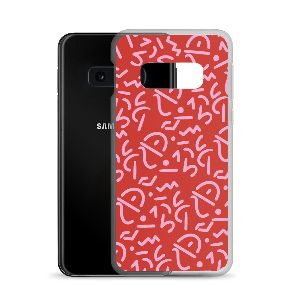 Red Tribal Samsung Phone Case