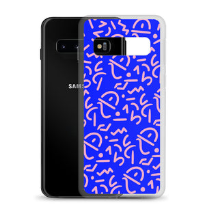 Blue Tribal Samsung Phone Case