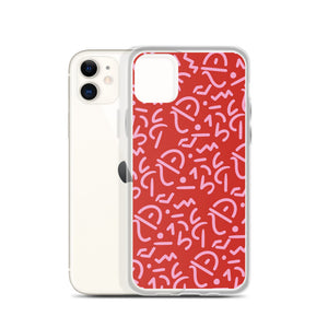 Red Tribal iPhone Case