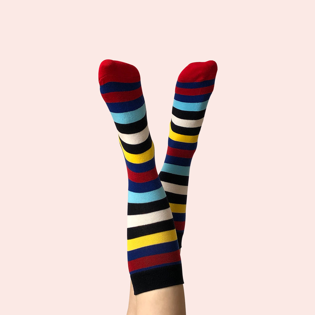 west carolina stripes colourful cotton crew socks fashion colour cool pattern unisex