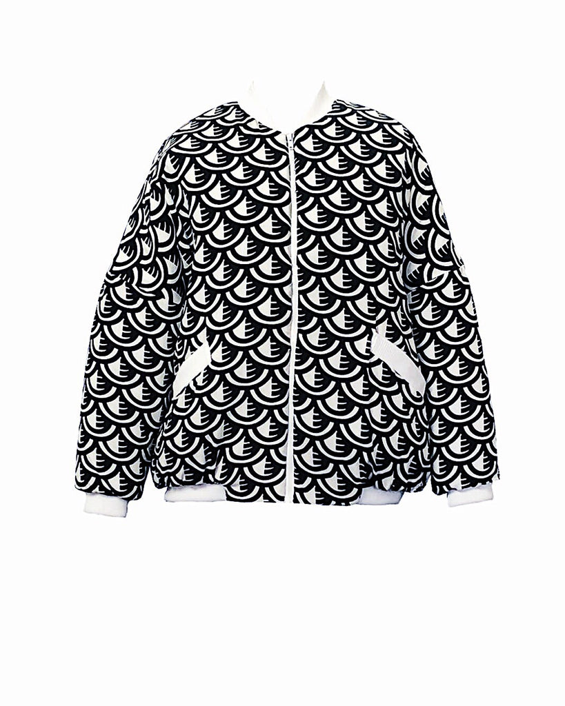 West Carolina cover my shift bomber jacket black and white