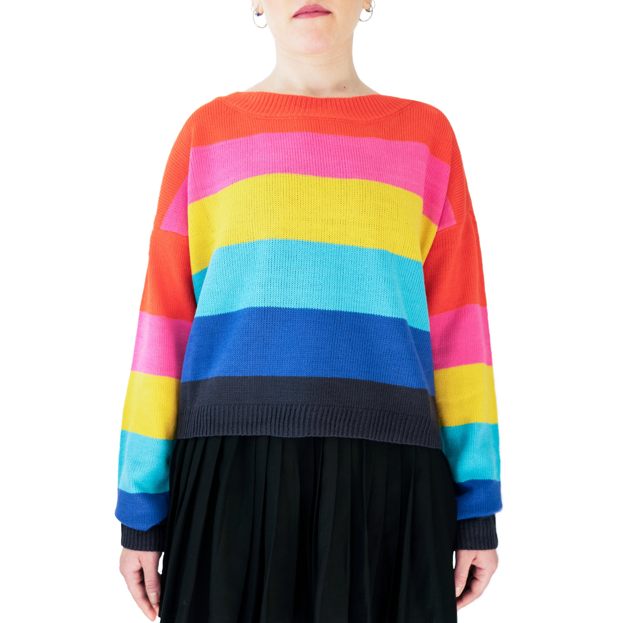 west carolina knitted rainbow jumper sweater